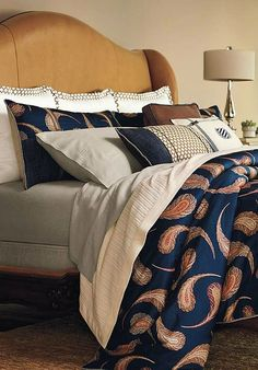 Enhance your master suite with the rich colors and splendid design of the Gramercy Bedding Collection that boasts a stunning array of bold designs and hues.