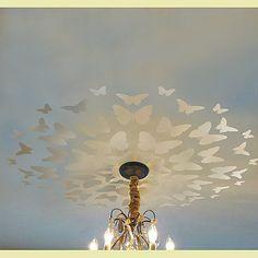 Stencil farfalla medaglione grande per la scuola materna a