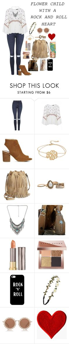 """""""Flower child with a rock and roll heart"""" by jiejiebear ❤ liked on Polyvore featuring Topshop, Office, Kate Spade, Patricia Nash, Decree, Flash Tattoos, Urban Decay, Bobbi Brown Cosmetics, Casetify and BP."""