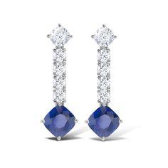 Asprey Sapphire & Diamond Earrings
