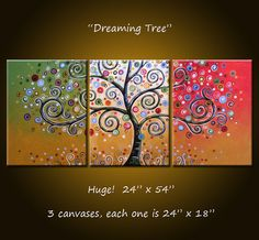 Amy Giacomelli on etsy....why do I love swirly trees? I don't know, but I do...