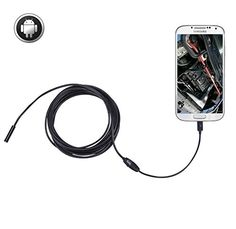 "Gifts ideas :""Inspection Camera Snake Camera Sokos Micro USB Borescope Waterproof Endoscope for Laptops and USB OTG Compatible Android Smartphones - 5M 