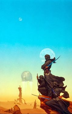 Michael Whelan, Faded Sun. Cover of one of my most favorite novels, by my absolute favorite SF author, C. J. Cherryh.
