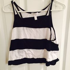 Stripped Crop Top Cute cotton striped loose crop top. Worn a lot. Cute with high waisted shorts! Ambiance Apparel Tops Crop Tops
