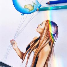 Kristina Webb Colored Pencil Portrait Illustration