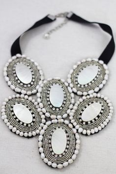 Mother of Pearl Bib Necklace