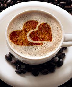 Hearts Coffee Stencil