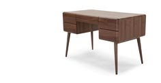 Paco Schreibtisch, Walnuss ► Neues Design für dein Zuhause! Entdecke jetzt Tische von klein bis groß bei MADE.