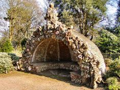 Mount Edgecumb House, UK: 18th century Shell Grotto by Cedar Lawn