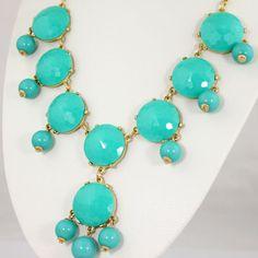 NEW 8 Stone Turquoise Green Bubble by Emilyjewelry4u on Etsy
