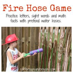 Fire Hose Fact Practice Game!  Great for practicing sight words, math facts, letters, numbers, and more!