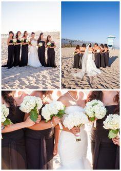 Santa Barbara Beach Resort Wedding - Formal Princess Lifegaurd Bridesmaids - Boutique Destination Love & Wedding Photography by Paul & Jewel Studios