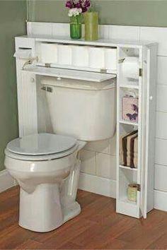 Útil mueble para poco espacio en el baño