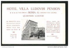 Cartolina Roma, Hotel Villa Ludovisi Pension