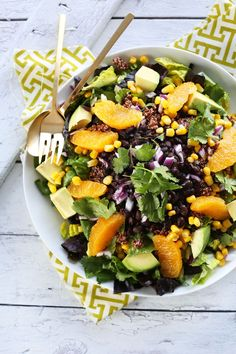 Quinoa Mexican Salad with Creamy Orange Chili Dressing