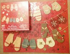 2004 Hallmark Woolly Mittens Family Puzzle 400 Pieces SOLD!