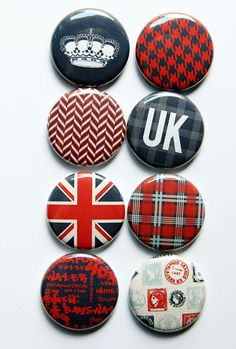 UK Flair by aflairforbuttons on Etsy