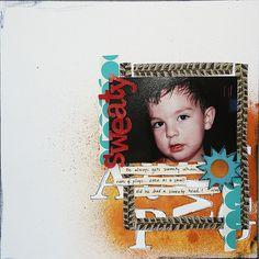 5 maneras de la diversión a utilizar la pintura y de la tinta como una Fundación Scrapbook Página |  Get It desguazado
