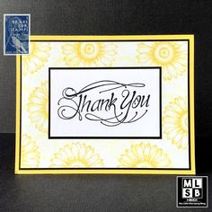 Yellow Floral Thank You Cards Hello You, Hero Arts, Yellow Flowers, I Card, Thank You Cards, Stamping, Card Stock, Ink, Floral