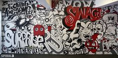 Smile Flame murals by Marcos Torres