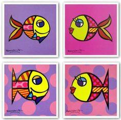 "Fish Set by Romero Britto 7.5""x7.5"" Art Print Poster by FirstArtSource.com, http://www.amazon.ca/dp/B002ZPSIYI/ref=cm_sw_r_pi_dp_lNvptb1DD7JKB"