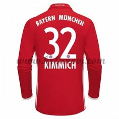 Bayern Munich Nogometni Dresovi 2016-17 Kimmich 32 Domaći Dres Dugim Rukavima Komplet