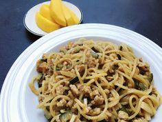 Karibische Nudeln mit Huhn | Spaghetti, Ethnic Recipes, Food, Chicken Pasta, Essen, Yemek, Noodle, Eten, Meals