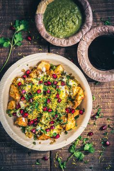 A tangy assemblage of crisp, cubed potatoes, masalas, chaat masala and sweet, pungent chutneys, Aloo Chaat reminds you of the flavours of Chandni Chowk. #Indian #Street #food #Chaat #Vegetarian