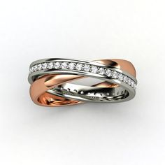 This would look beautiful next to my wedding ring - also done in white and rose gold, with channel set diamonds.
