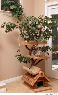 Crazy Funny Pictures: 23 Crazy Cat Furniture....Oh, how I need this cat tree for my Fuzzy daughter named TIKA. :)