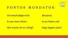 German Language Learning, Learn German, Organize, Hungary, German, Knowledge
