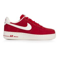 Nike Air Force 1.....can't go wrong with red.