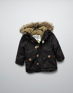 lined parka with hood - Coats - Baby boy (3-36 months) - Kids - ZARA
