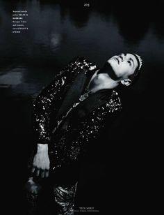 Simon Nobilli shot by Willie Vanderperre for Vogue Hommes International - Fall 2011