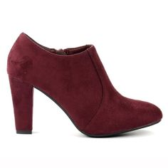 La Redoute Pumps, Heels, Bordeaux, Heeled Mules, Ankle, Fall Winter, Fashion, Red Booties, Boots