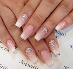 24 super Ideas for nails coffin design bling nailart Imbre Nails, Prom Nails, Cute Nails, Pretty Nails, Dimond Nails, Bride Nails, Luxury Nails, Best Acrylic Nails, Nagel Gel