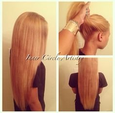 This particular sew-in allows you the versatility of wearing your flawless sew-in hair weave up in a sleek high ponytail or bun! Love Hair, Gorgeous Hair, Beautiful, Hair Products Online, Hair Online, Sew In Hairstyles, Hair Addiction, Natural Hair Styles, Long Hair Styles