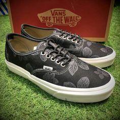 bc192c53fe Vans Customs Black Illigera Era Classic Black True White Mens Shoes  Vans  Buy Vans