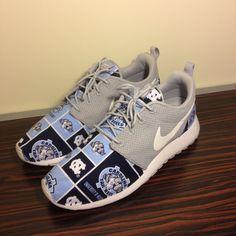 Custom Nike Roshe Run UNC Tarheels by customsxcario on Etsy