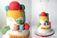 Craft knitting sewing cake