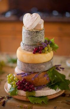 Amazing cheese tower in miniature!