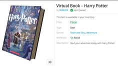 Free Virtual Book - Harry Potter
