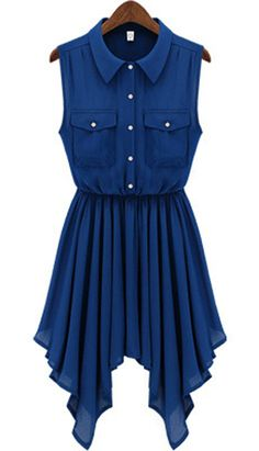 Blue Chiffon Dress || For some reason, I could totally see Spencer from Pretty Little Liars wearing this. :O