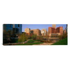East Urban Home Panoramic Downtown Omaha Nebraska Photographic Print on Canvas Size: