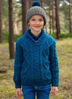 Wooling Issue 2 - #20 Cabled shawl neck sweater