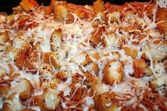 Chicken Parmigiana Casserole -  Excellent (kids loved it)easy chicken parm casserole - I made my own breaded chicken breasts and then cut them up and added them to pasta and baked (no basil used for us as my kids like their green stuff seperate)