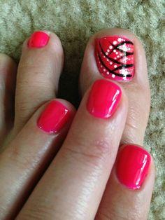 Toe nail pedi & hand nail art designs