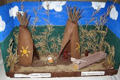Check out this native American tepee diorama Melinda helped her kids make for a school project.