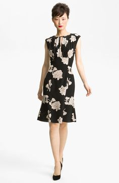 Tracy Reese Rose Print Silk Dress