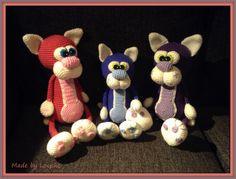 Cuddly cats (pattern by Liliksha Toys)